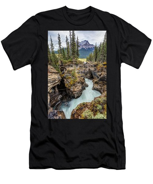 Natural Flow Of Athabasca Falls Men's T-Shirt (Athletic Fit)