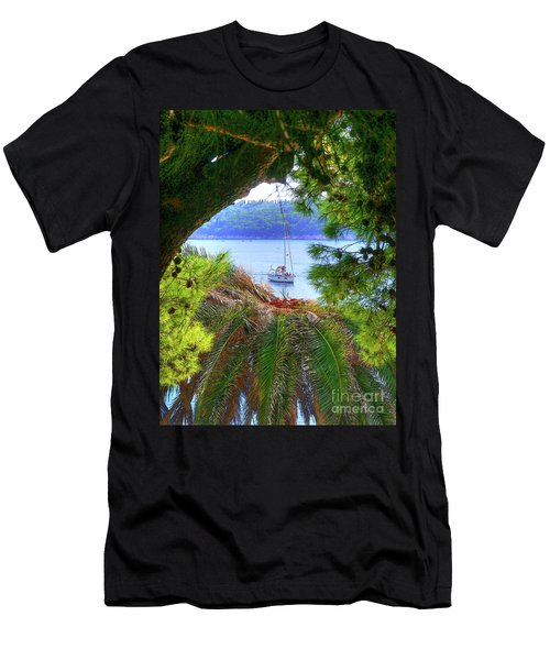 Nature Framed Boat Men's T-Shirt (Athletic Fit)