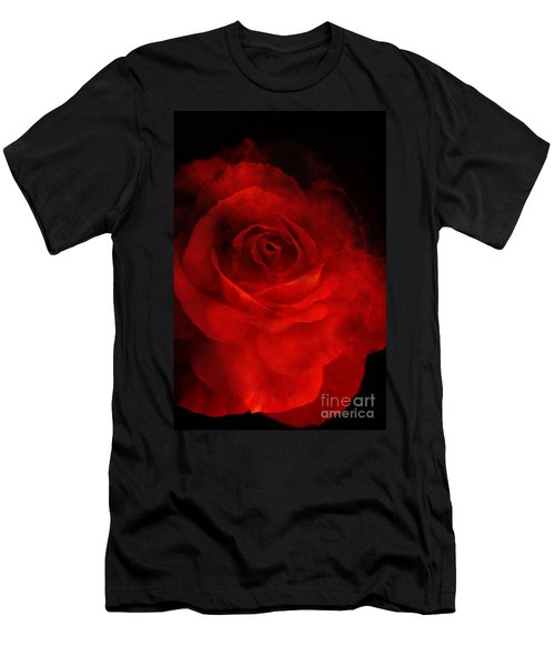 Men's T-Shirt (Slim Fit) featuring the photograph Natures Flame by Stephen Mitchell