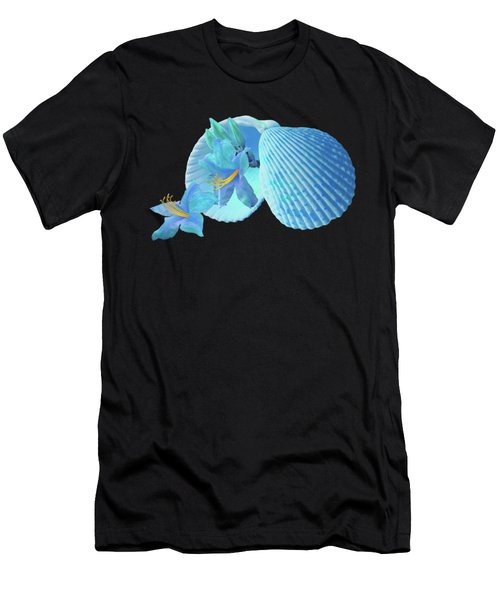 Nature's Gems In A Blue Mood Men's T-Shirt (Athletic Fit)