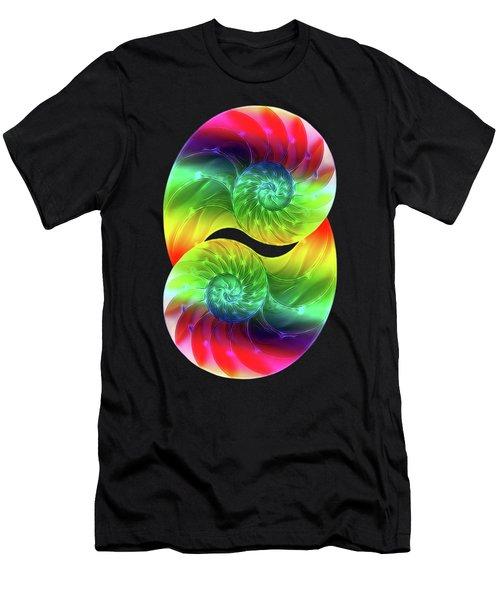 Nautilus Rainbow Vertical Men's T-Shirt (Athletic Fit)