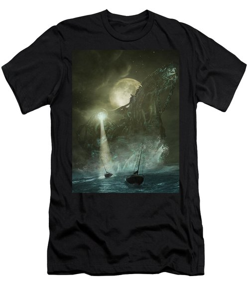Men's T-Shirt (Athletic Fit) featuring the digital art Nautilus by Uwe Jarling