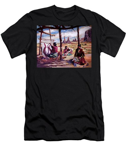Navajo Weavers Men's T-Shirt (Slim Fit) by Nancy Griswold