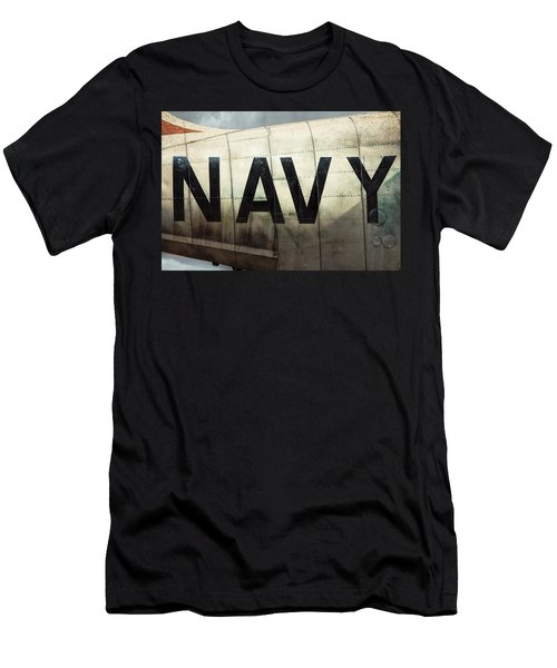 Men's T-Shirt (Slim Fit) featuring the photograph Navy - Kaman K-16b Experimental Aircraft by Gary Heller