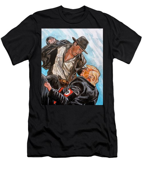 Men's T-Shirt (Athletic Fit) featuring the painting Nazis. I Hate Those Guys. by Joel Tesch