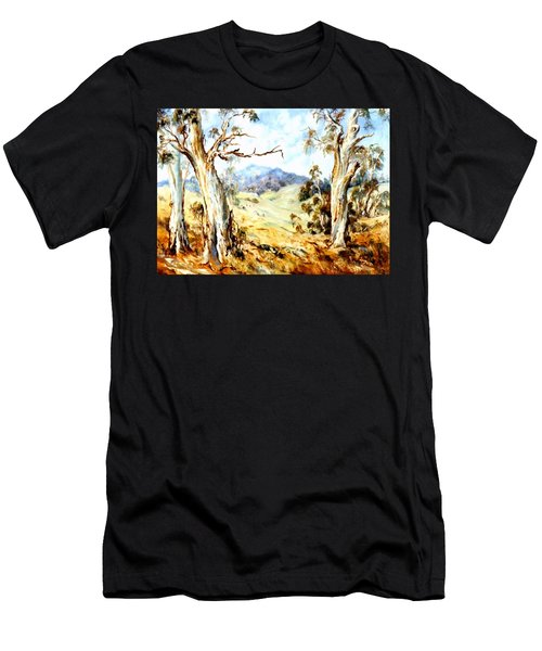 Men's T-Shirt (Athletic Fit) featuring the painting Near Avoca by Ryn Shell
