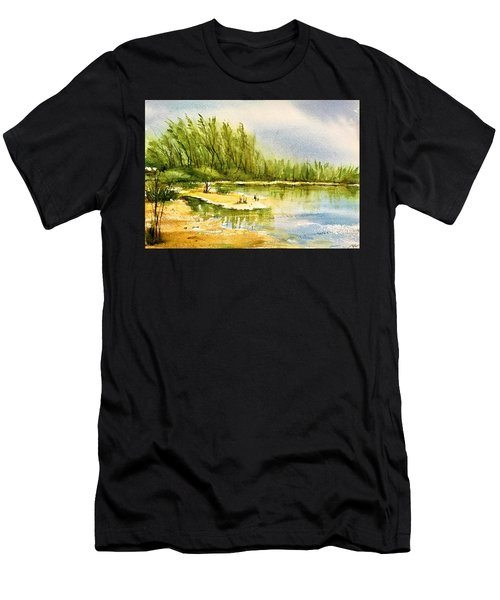 Near The Lake 4 Men's T-Shirt (Athletic Fit)