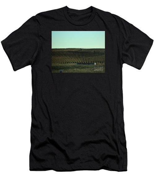 Nebraska Corn Rows Men's T-Shirt (Athletic Fit)