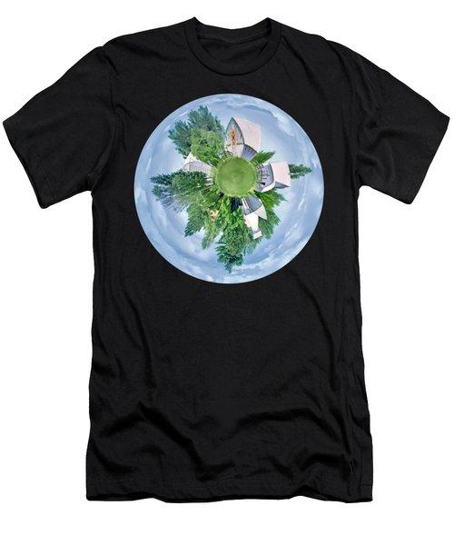 Nebraska Farm - Transparent Men's T-Shirt (Athletic Fit)