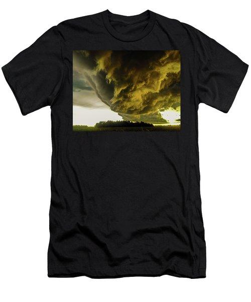 Nebraska Supercell, Arcus, Shelf Cloud, Remastered 018 Men's T-Shirt (Athletic Fit)