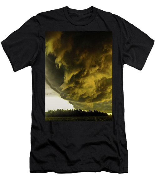 Nebraska Supercell, Arcus, Shelf Cloud, Remastered 018 Men's T-Shirt (Athletic Fit)