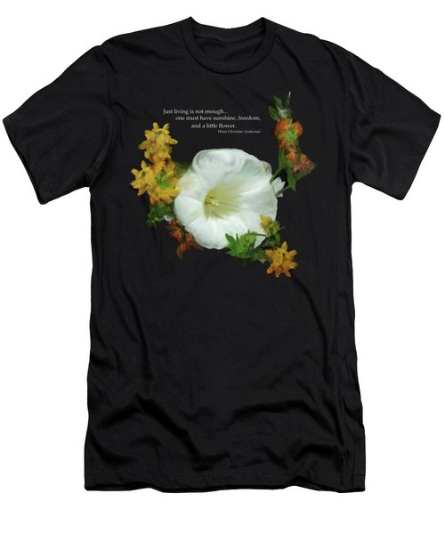 Need A Little Flower Men's T-Shirt (Athletic Fit)
