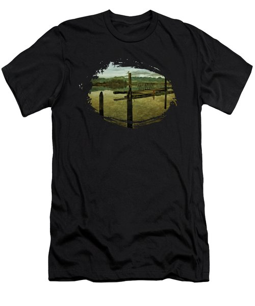 Nehalem Bay Reflections Men's T-Shirt (Athletic Fit)