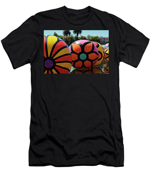 Men's T-Shirt (Athletic Fit) featuring the photograph Neon Balls Of Macarthur Park by Lorraine Devon Wilke