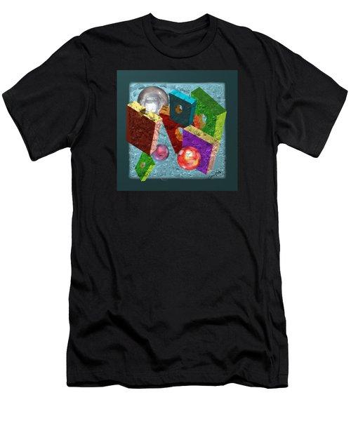Neon Boxes Men's T-Shirt (Athletic Fit)
