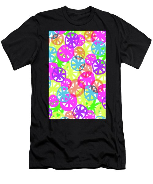 Neon Circles Men's T-Shirt (Athletic Fit)