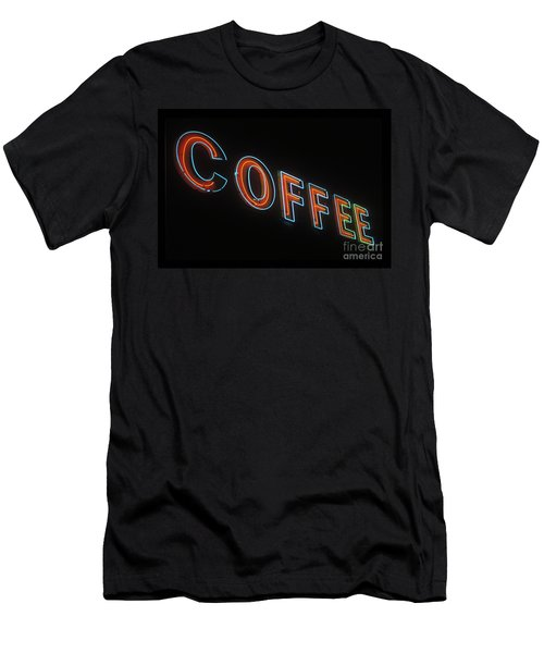Men's T-Shirt (Slim Fit) featuring the photograph Neon Coffee by Jim and Emily Bush