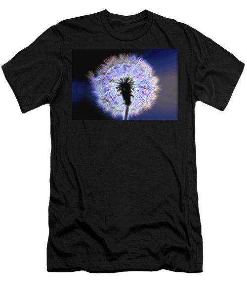 Neon Dandelion Fire Men's T-Shirt (Athletic Fit)