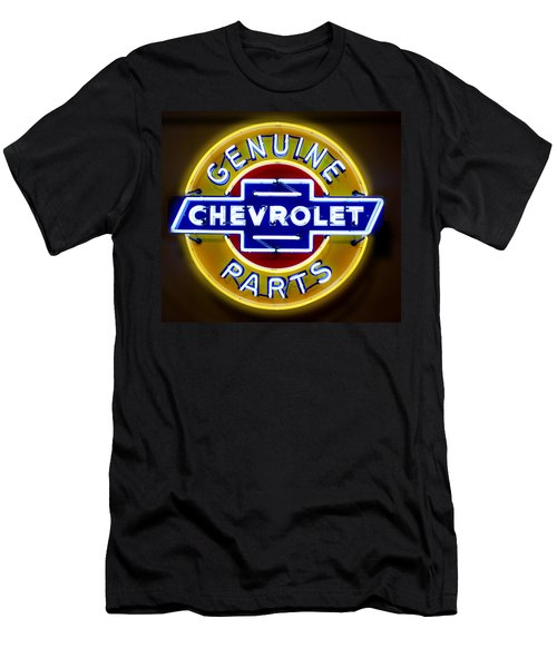 Neon Genuine Chevrolet Parts Sign Men's T-Shirt (Athletic Fit)