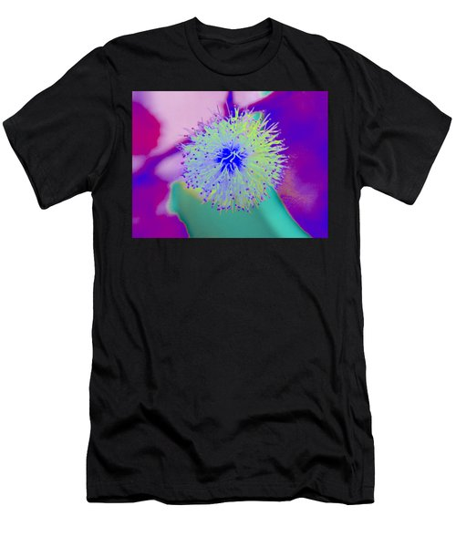 Neon Green Puff Explosion Men's T-Shirt (Athletic Fit)