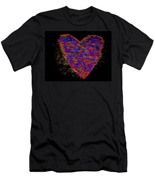 Neon Heart Men's T-Shirt (Athletic Fit)