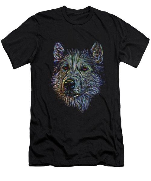 Neon Husky Men's T-Shirt (Athletic Fit)