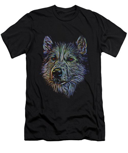 Neon Husky Men's T-Shirt (Athletic Fit)