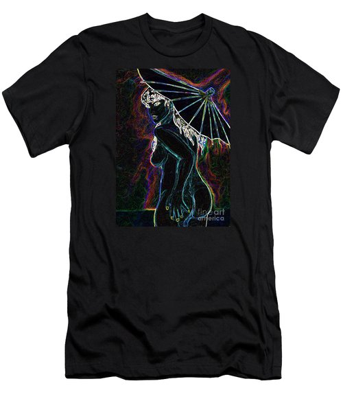 Men's T-Shirt (Slim Fit) featuring the painting Neon Moon by Tbone Oliver
