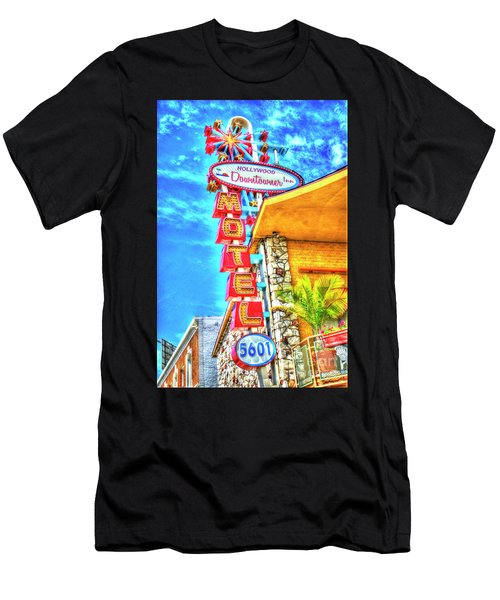 Neon Motel Sign Men's T-Shirt (Athletic Fit)
