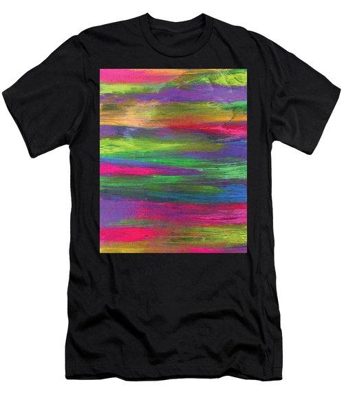 Neon Rainbow Men's T-Shirt (Athletic Fit)