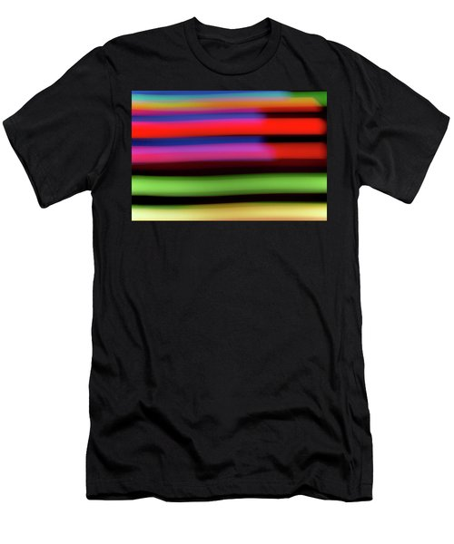 Neon Stripe Men's T-Shirt (Athletic Fit)