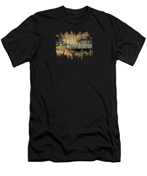 Neskowin Trading Company And Cafe On Hawk Creek  Men's T-Shirt (Athletic Fit)