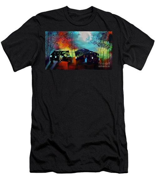 Never Alone  Men's T-Shirt (Slim Fit)