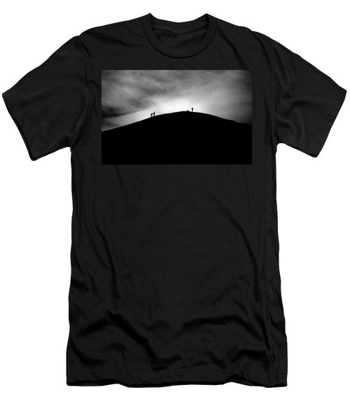 Men's T-Shirt (Athletic Fit) featuring the photograph Never Give Up by Pradeep Raja Prints