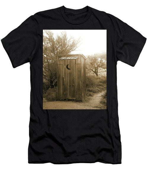 Never Squat With Your Spurs On, Sepia Men's T-Shirt (Athletic Fit)