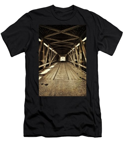 Men's T-Shirt (Slim Fit) featuring the photograph Nevins Bridge by Joanne Coyle