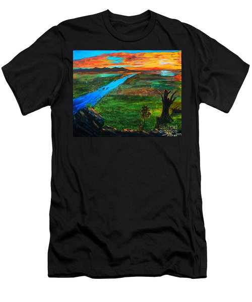 New Beginnings Men's T-Shirt (Slim Fit) by Ruanna Sion Shadd a'Dann'l Yoder