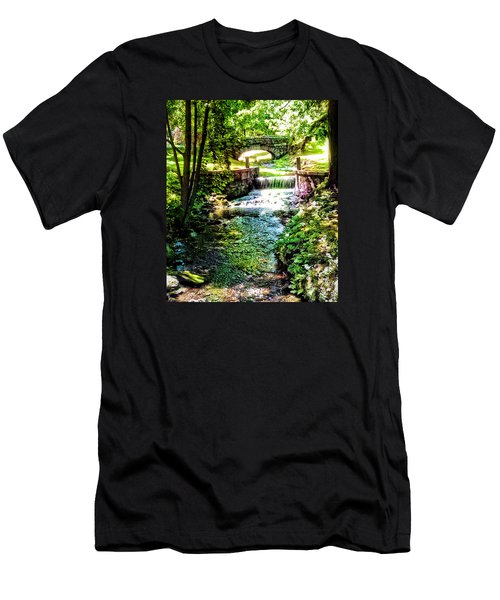 New England Serenity Men's T-Shirt (Slim Fit) by Kathy Kelly