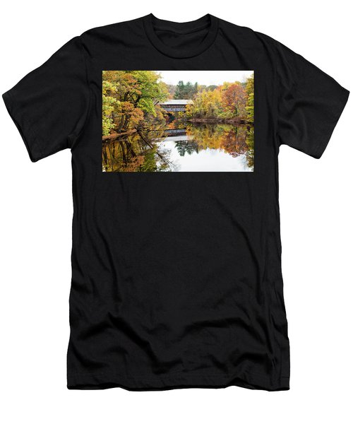 New England Covered Bridge No.63 Men's T-Shirt (Athletic Fit)