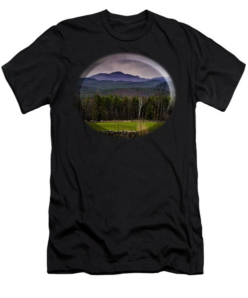 New England Spring In Oil Men's T-Shirt (Athletic Fit)