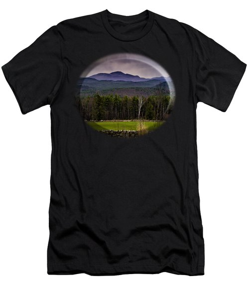 Men's T-Shirt (Athletic Fit) featuring the photograph New England Spring In Oil by Mark Myhaver