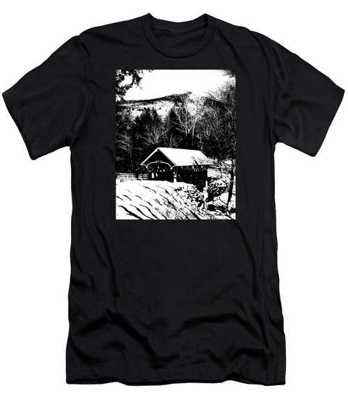 New Hampshire Covered Bridge Men's T-Shirt (Athletic Fit)