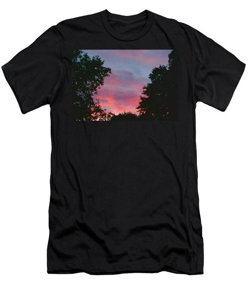 Men's T-Shirt (Slim Fit) featuring the digital art New Hampshire Sunset by Barbara S Nickerson