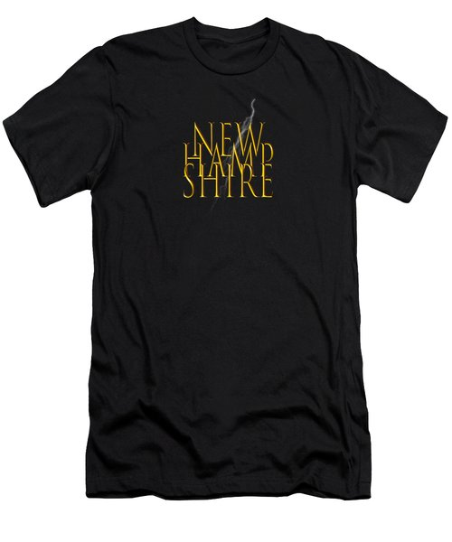 New Hampshire Text Men's T-Shirt (Slim Fit) by Mim White