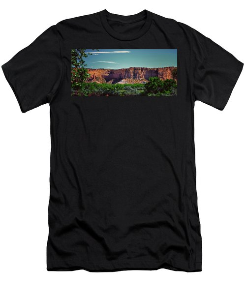 New Mexico Mountains 004 Men's T-Shirt (Athletic Fit)