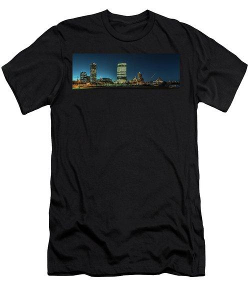 Men's T-Shirt (Slim Fit) featuring the photograph New Milwaukee Skyline by Randy Scherkenbach
