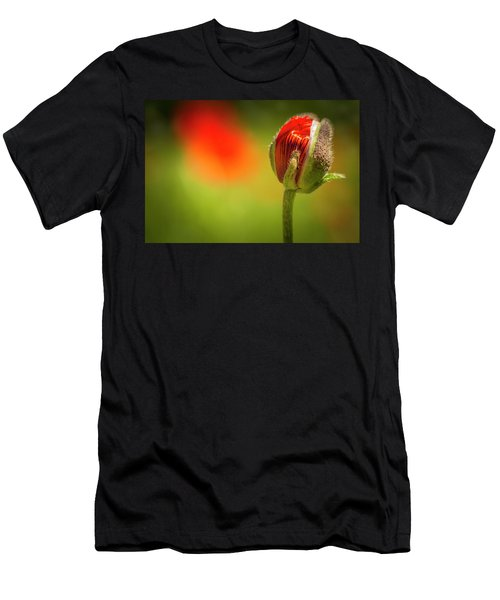 New Orange Poppy Bloom Men's T-Shirt (Athletic Fit)