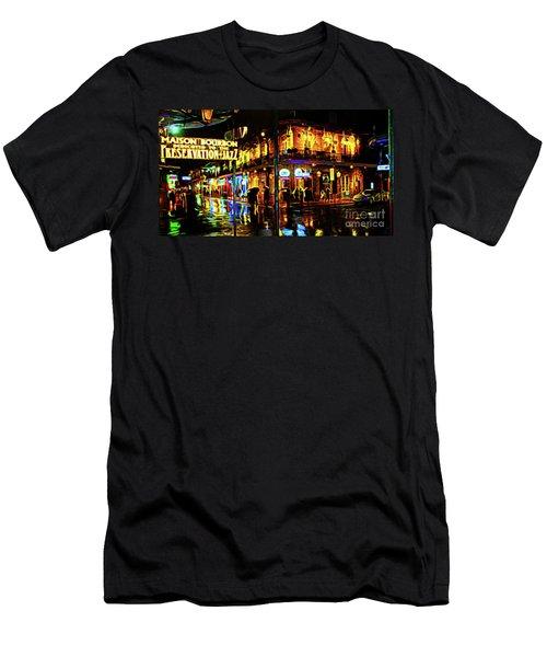 New Orleans Bourbon Street Men's T-Shirt (Athletic Fit)