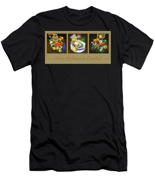 Men's T-Shirt (Slim Fit) featuring the painting New Orleans Cooks by Dianne Parks