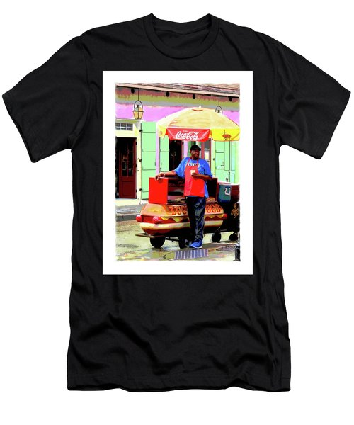 New Orleans Hotdog Vendor Men's T-Shirt (Athletic Fit)